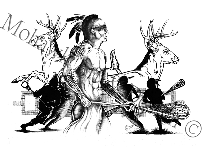 Traditional Lacrosse player with Deer Clan (2013)